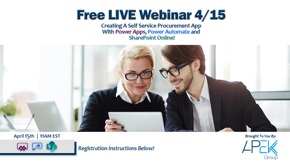 Apek Group Apek-Webinar-Web-Banner Free Live webinar 4/15 - Power Lunch with Apek Group